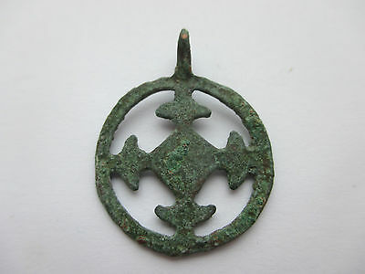 "Beautiful  Viking pendant "" Cross in a circle"". Kievan Rus  10 -11 AD."