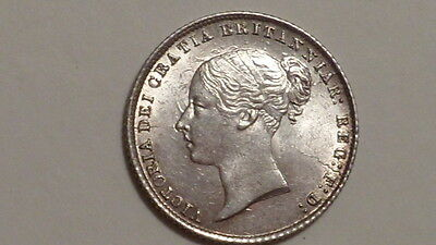 1866 Sixpence.dn 33.Victoria YH.1838-1887  UNC. Highly Lustrous. British Milled.