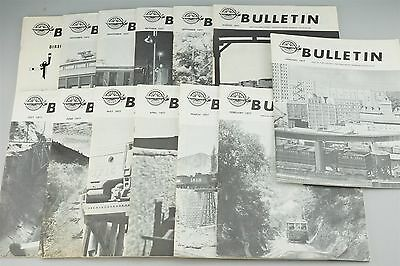 Railroad Book Lot - 13 Issues NMRA Bulletin 1977 - Freight Locomotives Buildings