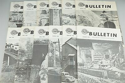 Railroad Book Lot - 12 Issues NMRA Bulletin 1978 - Freight Locomotives Buildings