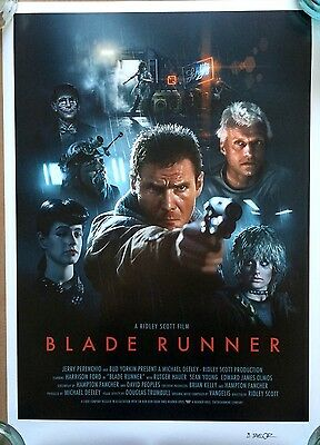 Blade Runner Alternative Movie Poster Art Print Brian Taylor Lithograph Creased