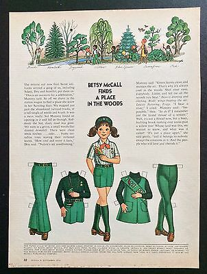 Vintage Betsy McCall Mag. Paper Doll, Betsy McCall The Girl Scout, Sept. 1973
