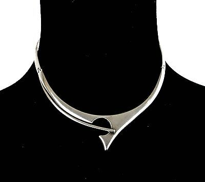 Vintage Sigi Pineda Tasco Taxco Mexican 925 Sterling Silver Choker Necklace