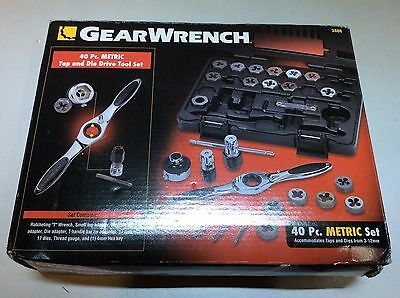 (Closeout) GearWrench 3886 40-Piece Metric Tap and Die Set