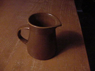 Bennington Pottery  3 1/2  inch Pitcher,, Brown, unsigned