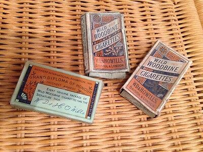 3 Collectors Old 'Wild Woodbine' Cigarette Packets