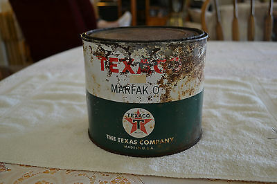 "Vintage Texaco ""marfac O"" Grease Can---5 Lb Empty"