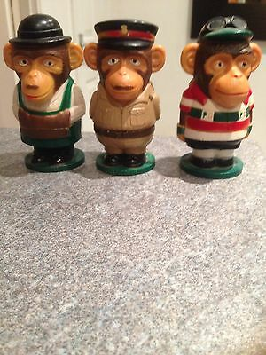 PG TIPS Collectable Monkey Egg Cups Retro,vintage 1970's