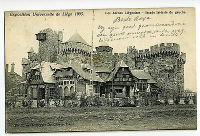 Cpa Liege Exposition 10.06.1905 Les Arenes Liegeoises Facade - Anvers 11.06.1905