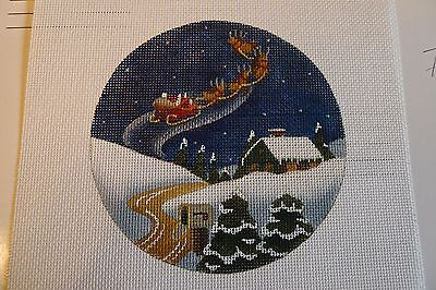 #71 Melissa Shirley Hand-painted Needlepoint Canvas Ornament/Christmas, great
