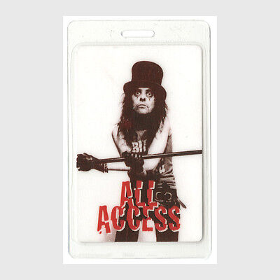 Alice Cooper authentic 1996 tour Laminated Backstage Pass