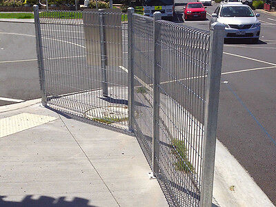 Fence Panels - ARC Acacia Fence Panels - 5mm Mesh - Galvanised - 2.4mW x 1.8mH