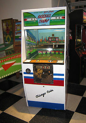 Baseball Champ By Chicago Coin ~ Vintage Arcade Game ~ Rare Find In Great Shape