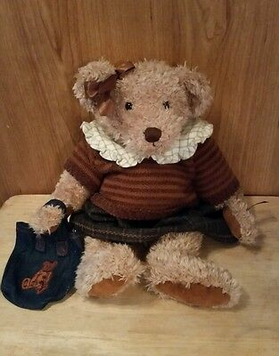 """Russ Berrie Plush VINTAGE COLLECTION LADY MEREDITH TEDDY BEAR 14"""""""