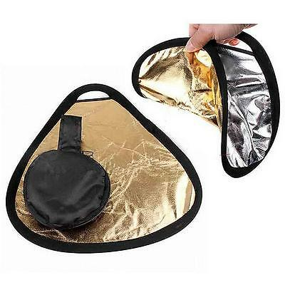 New 2in1 30cm Gold/Silver Portable Folding Handheld Photograph Reflector  X