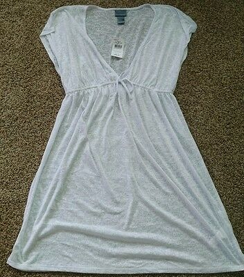 New womans Oh Baby motherhood white swimsuit cover up size L