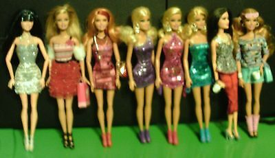 Lot Of 8 Barbie Dolls New Condition
