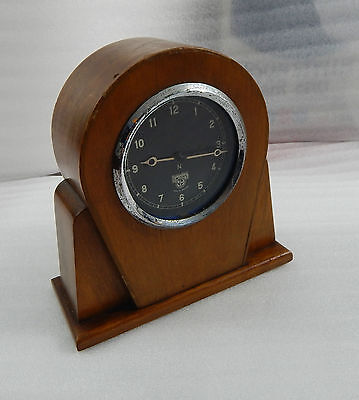 Smiths car clock made into Art Deco mantle clock working unique design16cm tall