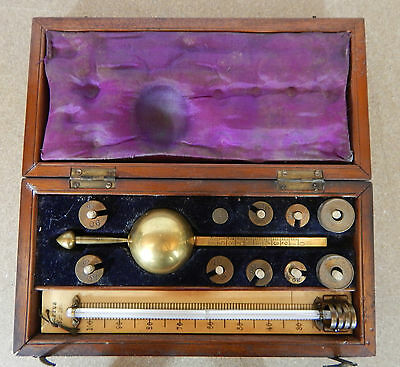 Victorian Mahogany Cased Sikes Hydrometer Loftus 6 Beaufort Terrace London
