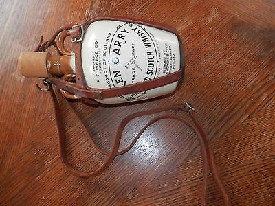 Glen Garry Scotch Whisky Jug, Comes with Leather Strap and Hook for Decoration