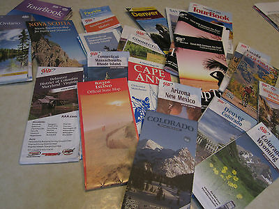 Assorted Guides and Road Maps for US East and West Coast and Canada
