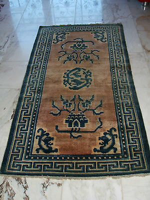 Old Chinese Rug Chinesischer Teppich Tapis Chinois Ancien Mongolian China
