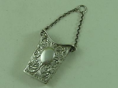 Hallmarked Silver 1900 Chatelaine Chain Sewing Needle Case Holder Etui Antique