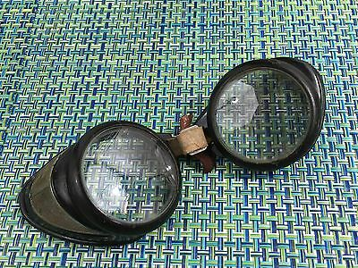 Steampunk Vintage Pair of Motorcycle Safety Glasses Goggles BAKELITE? NO STRAP