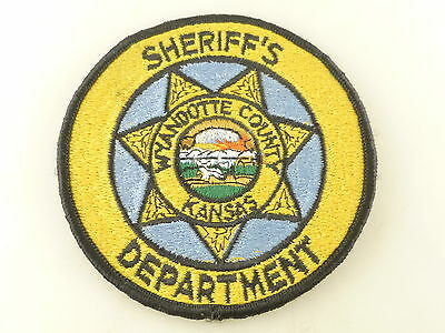 Vintage Wyandotte County Kansas Sheriff's Department Embroidered Patch Obsolete