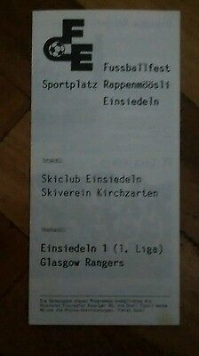 FC Einsiedeln v Rangers friendly from 1980's