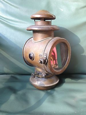 Early Brass Automobile Side Lamp