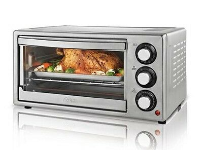 Oster 6 Slice Convection Toaster Oven Brushed Stainless NEW