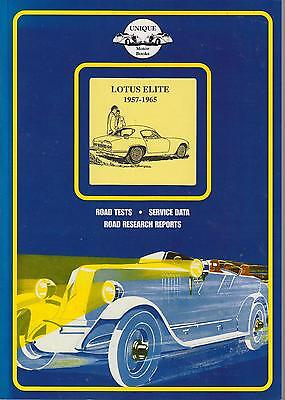 Lotus Elite Mk1 Coupe ( 1957 - 1965 ) Period Road Tests Book