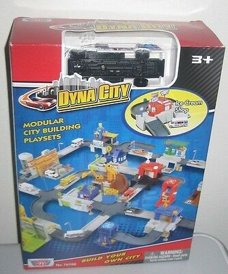 MOTORMAX DYNA CITY Lot of 4 Playsets Gas Station Post Office Recycle Ice Cream