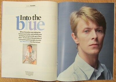 Lord Snowdon's Blue Portraits - Observer magazine – 6 May 2012