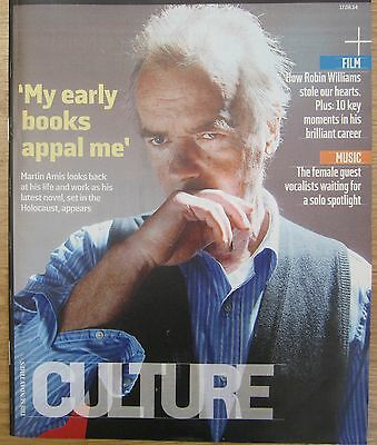 Martin Amis – Sunday Times Culture magazine – 17 August 2014