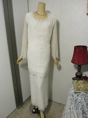 Mother Of The Bride Dress by Candlelight & Champagne-Plus Size 20 White-Beaded