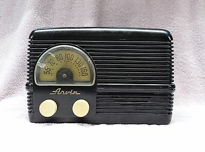 Vintage 1948 Arvin # 153T Am Radio With Popular Half-Moon Dial Wrap-Around Grill