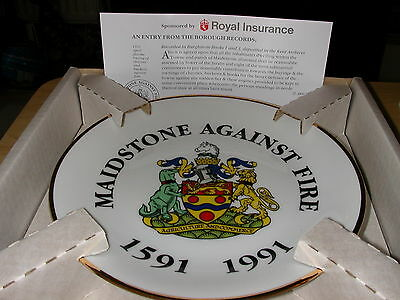 Maidstone Against Fire 1591-1991 Commemorative Plate