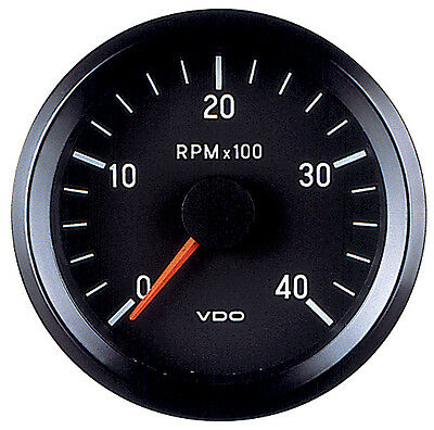VDO Electronic 12V 52mm Tachometer 0-4000rpm 333 015 037