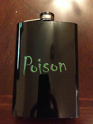Halloween Gloss Black Stainless Steel Hip Flask