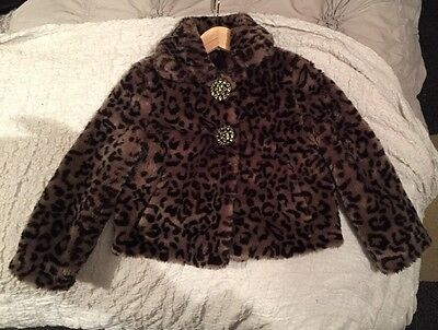 Debenhams Star By Julien Macdonald Fur Girls Age 6 Jacket