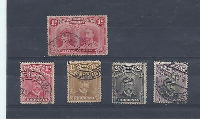 Rhodesia stamps. George V Admirals etc used. (X252)