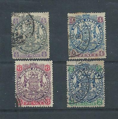 Rhodesia stamps.1894 Large Arms used. (Y208)