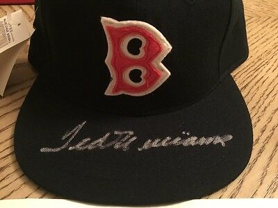Red Sox Ted Williams Signed Roman Cooperstown Collection Hat PSA # J26738