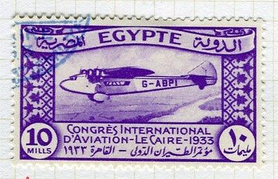 EGYPT;  1933 Aviation Congress Cairo fine used 10m. value