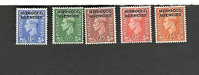 Morocco Agencies SCOTT #263-67 King George VI MNH stamps