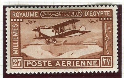EGYPT;  1929 early AIR issue fine Mint hinged 27m. value