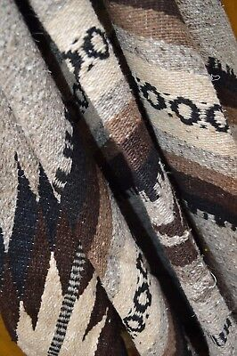 Mexican Blanket JUMBO The Chief in NATURAL  XXlarge 90x60 Handwoven Tribal Rug
