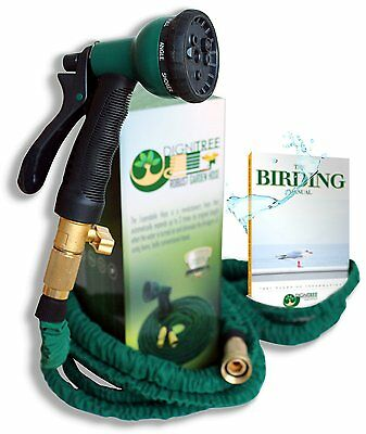 Dignitree® 50 FT Expandable Kink Free Garden Hose Best 8 Function Spray Nozzle